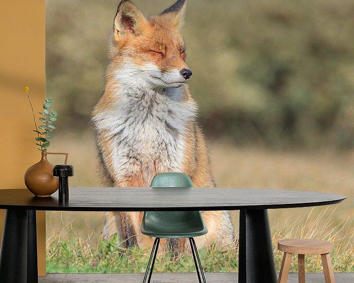 Sfeerimpressie behang: Red Fox van Lisa Antoinette Photography