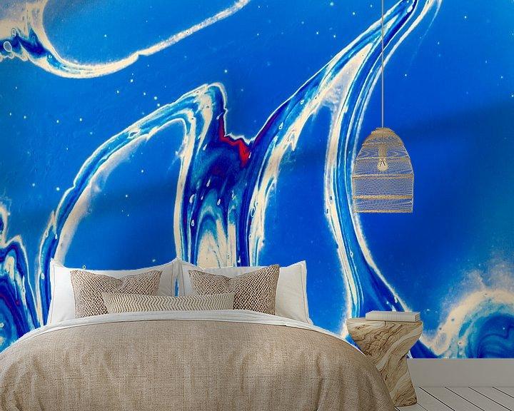 Sfeerimpressie behang: Blue Cells van AJ Art
