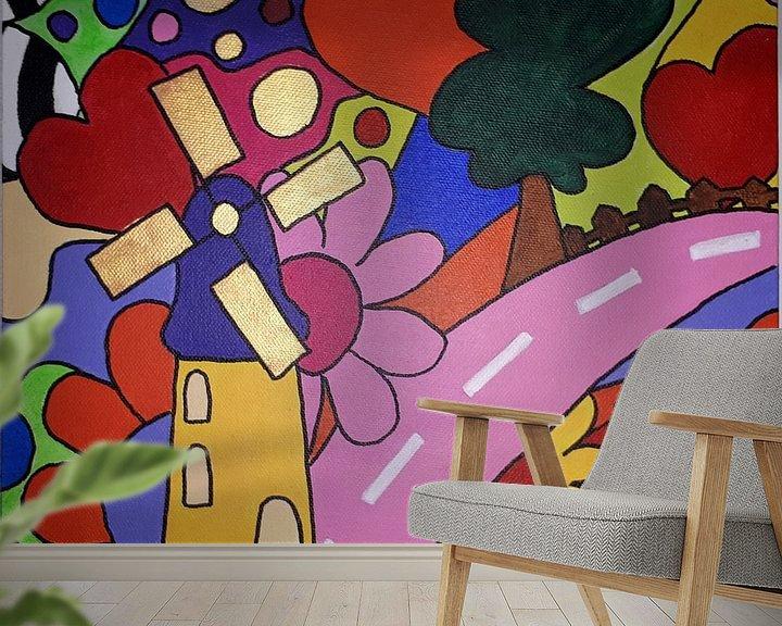 Sfeerimpressie behang: Hollands Glorie van Anja  Bulté