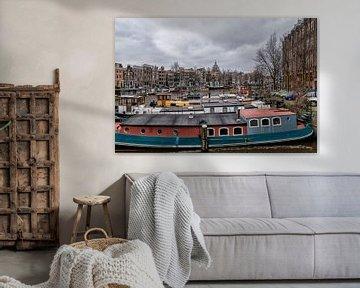 De Waalseilandgracht en links de Kromme Waal. van Don Fonzarelli