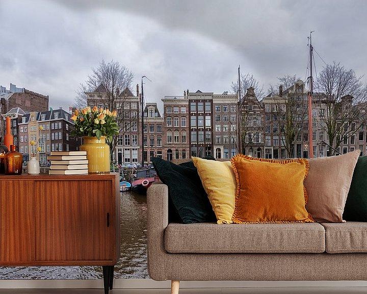Sfeerimpressie behang: Binnenkant Amsterdam. van Don Fonzarelli