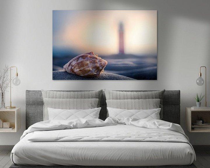 Sfeerimpressie: Schelp & vuurtoren Texel  van Texel360Fotografie Richard Heerschap