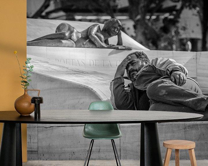 Sfeerimpressie behang: Life imitating art imitating life van Emil Golshani