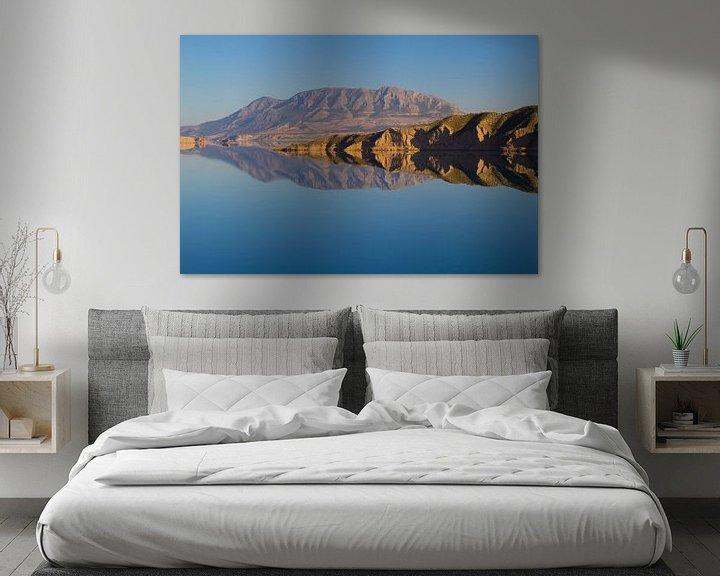Sfeerimpressie: Mountain Reflection in Embalse de Negratin van Cornelis (Cees) Cornelissen