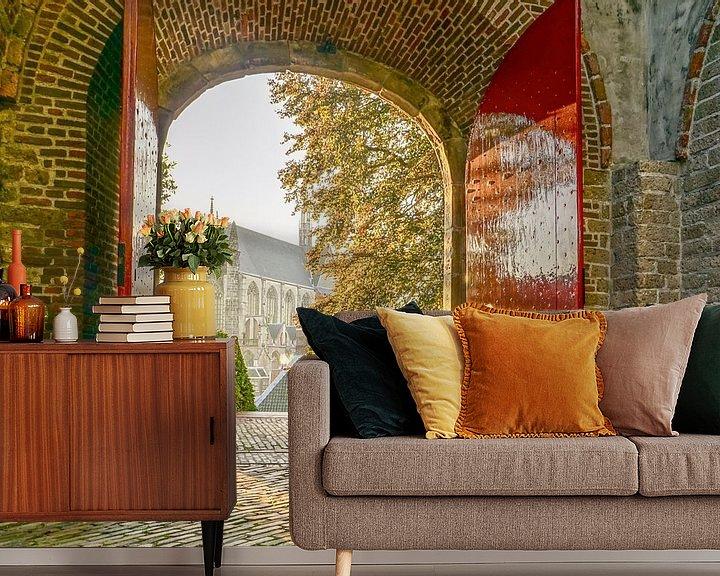Sfeerimpressie behang: Leiden op zijn mooist! van Dirk van Egmond