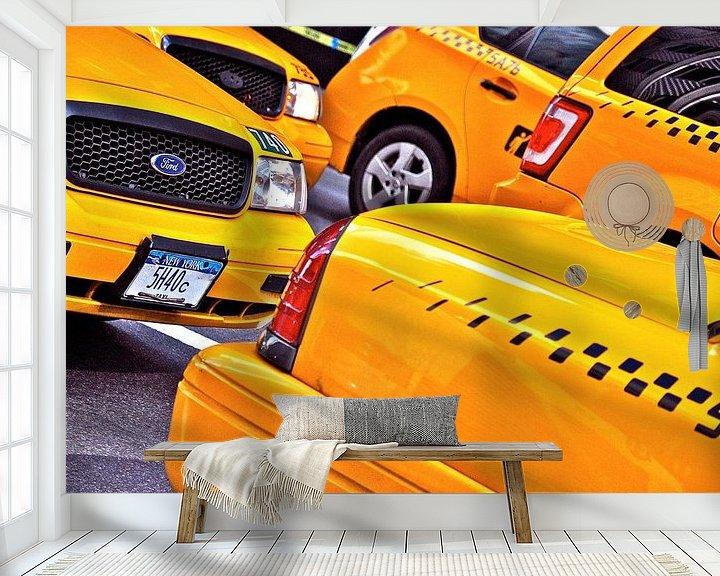 Sfeerimpressie behang: Taxi-oorlog van Emil Golshani
