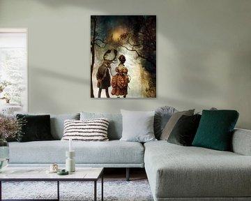 VINTAGE COUPLE BY ABSTRACT AUTUMN II von Pia Schneider
