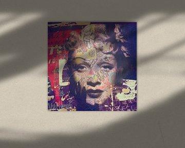 Marlene Dietrich Plakative Dadaismus  van Felix von Altersheim