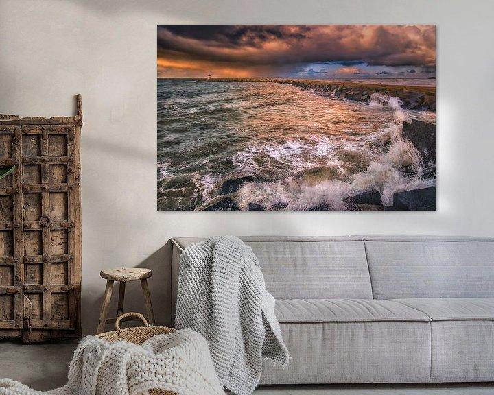 Sfeerimpressie: Brekende golven van Sander Poppe