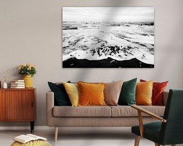 Spiel von Strand und Meer von Roland de Zeeuw fotografie