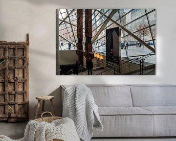 Indrukwekkend, WTC fundering in Memorial Centre NYC van Annelies Martinot