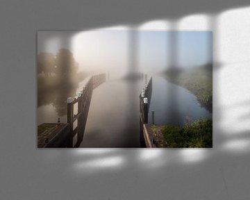 Brede kreek Het Steurgat bij de Biesboschsluis van Ruud Morijn