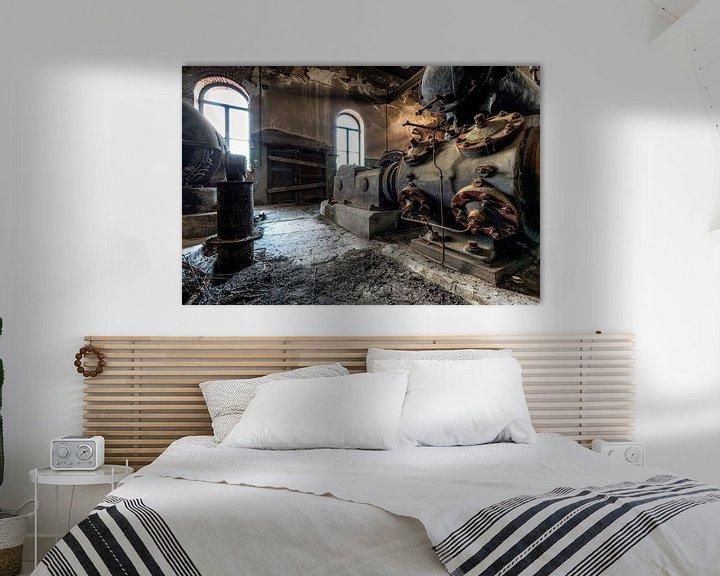 Beispiel: Oude industriële machines in een verlaten fabriek von Sven van der Kooi (kooifotografie)