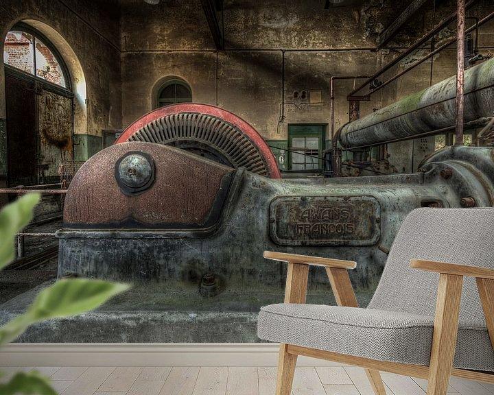 Beispiel fototapete: Alte Industriemaschinen in einer verlassenen Fabrik von Sven van der Kooi (kooifotografie)