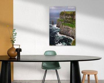 Ierse kust bij Doolin. van Edward Boer