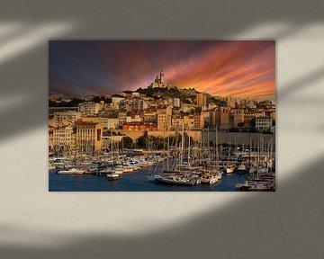 Marseille sunset van Vincent Xeridat