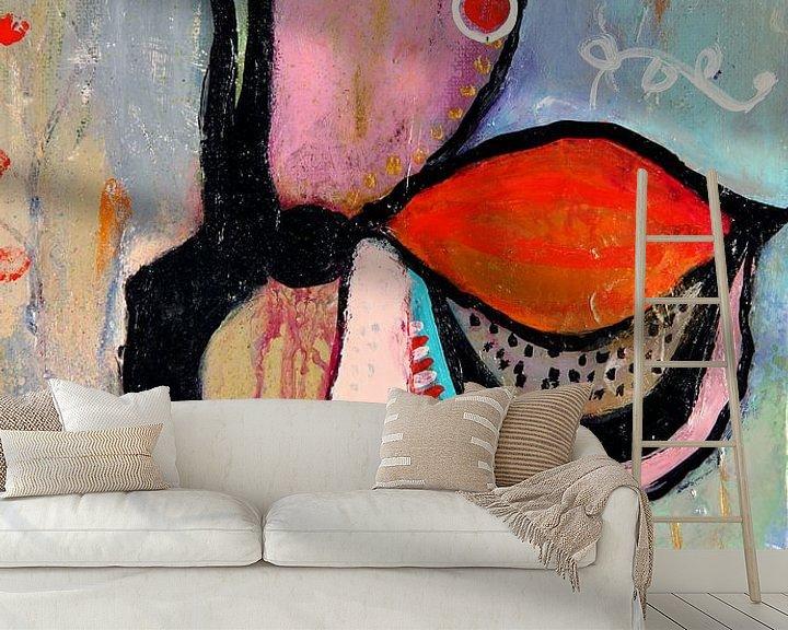 Sfeerimpressie behang: Unfold van Cynthia Jagtman