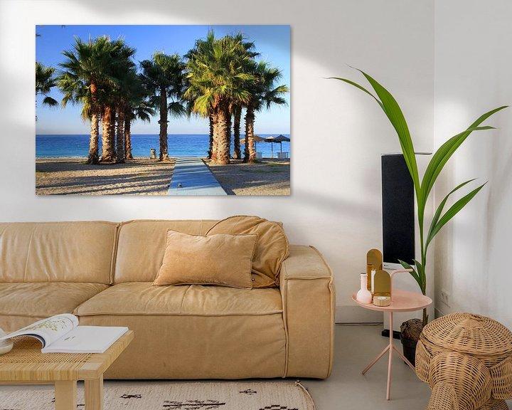 Sfeerimpressie: Het Groepje Palmbomen van Cornelis (Cees) Cornelissen