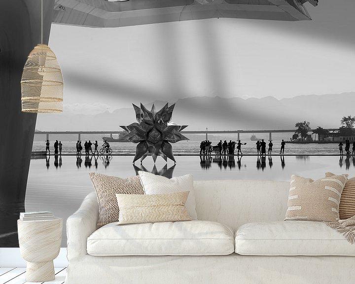 Sfeerimpressie behang: Reflecties in water, Rio van Leon Doorn