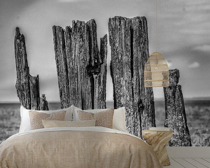 Sfeerimpressie behang: Waddenzee van Berend Drent