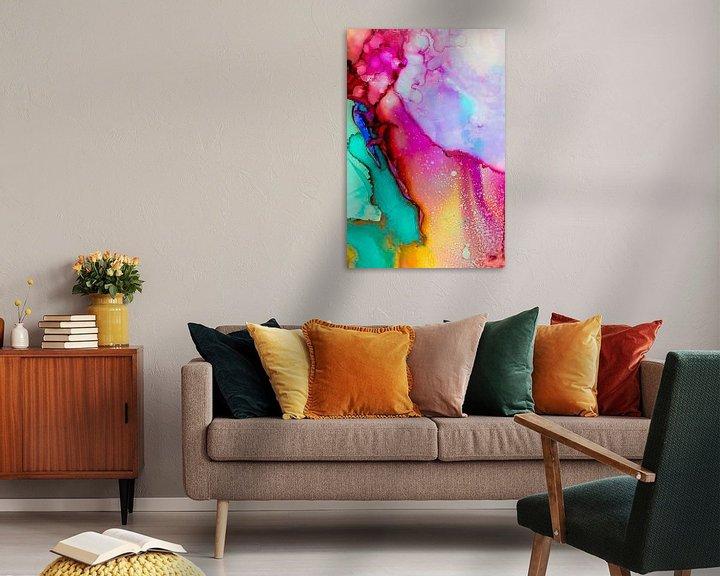 Sfeerimpressie: Roze Geel Turquoise van angelique van Riet