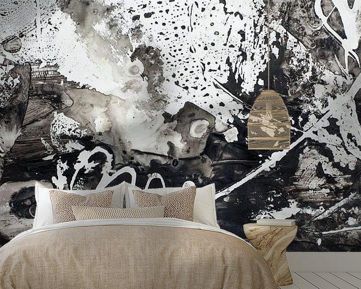 Sfeerimpressie behang: Zwart wit van angelique van Riet