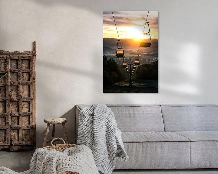 Sfeerimpressie: Kabelbaan bij zonsopkomst van Lucas De Jong