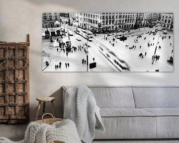 La place du Dam à Amsterdam : la photographie en noir et blanc sur Lucas Harmsen