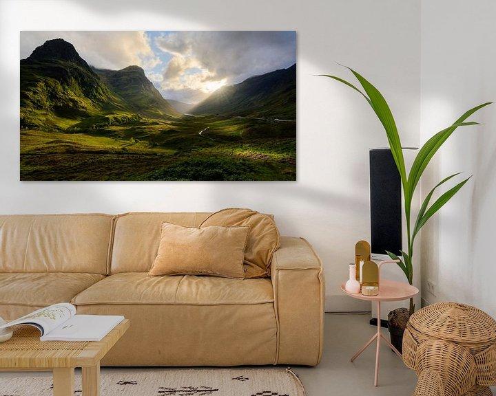 Sfeerimpressie: Zonsondergang in Glencoe van Jimmy Sorber