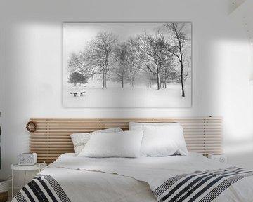 Winter in Holland van Tom Kraaijenbrink