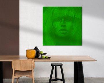 Brigitte Bardot - Neon Green - 24 Colours Game - I PAD Generation von Felix von Altersheim