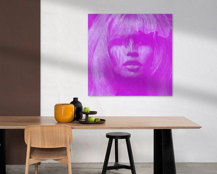 Sfeerimpressie: Brigitte Bardot - Lila - 24 Colours Game - I Pad Generation van Felix von Altersheim