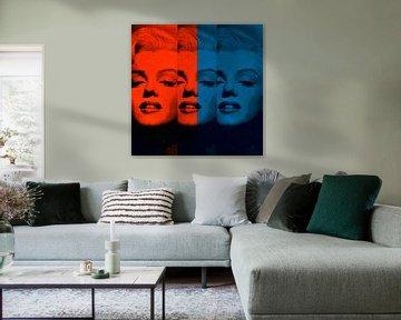 Marilyn Monroe - 12 Colours - Orange - Vintage Blue - Neon Game von Felix von Altersheim