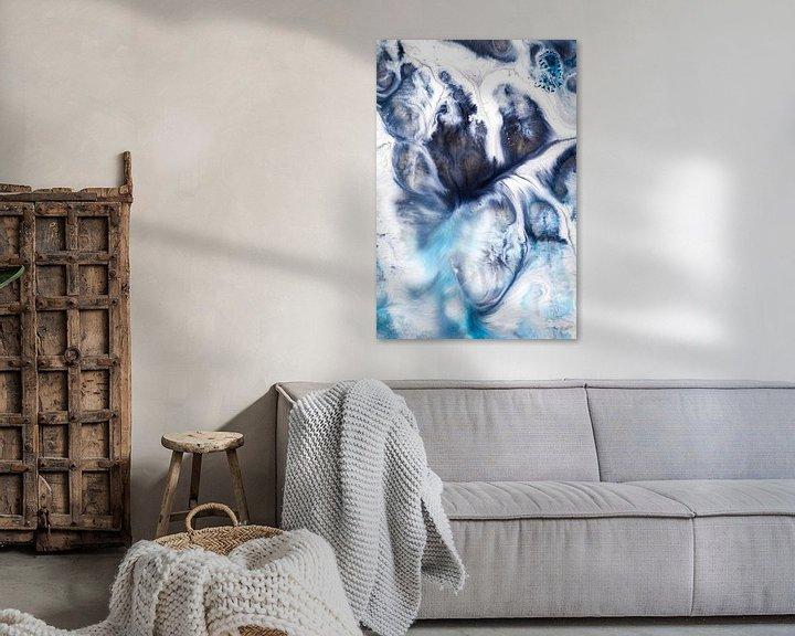 Sfeerimpressie: Blauwtinten inkt van angelique van Riet