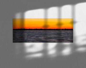Nature | Coucher de soleil sur l'IJsselmeer - Enkhuizen sur Servan Ott