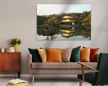 Der goldene Tempel (Kinkaku-ji), Kyoto, Japan von Roger VDB