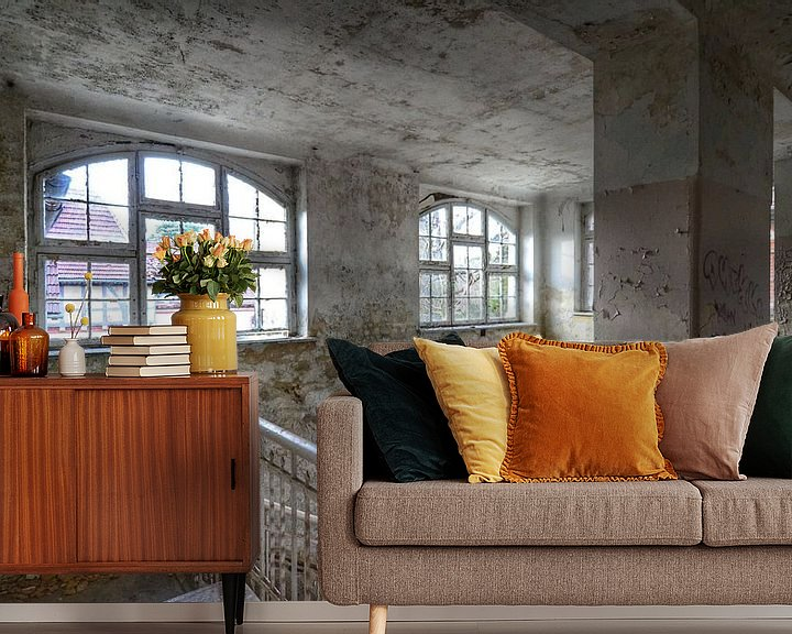 Beispiel fototapete: Off white windows. Beelitz, Germany von Robin Boer