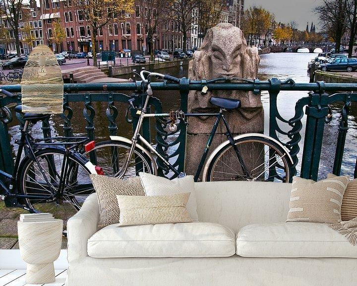 Sfeerimpressie behang: Niek Engelschmanbrug in Amsterdam van Silva Wischeropp