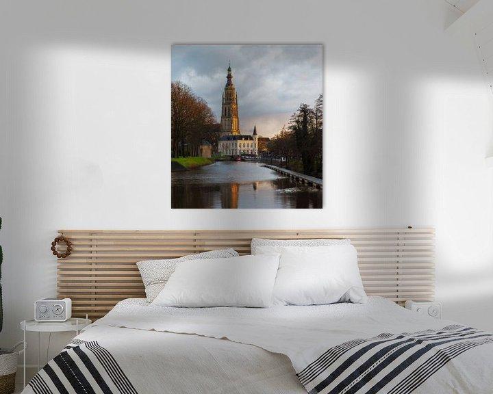 Sfeerimpressie: De grote kerk in Breda, Noord Brabant van Jos Pannekoek