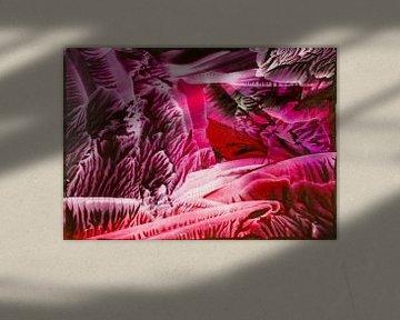 Encaustic Art rood bruin paars bordeaux wit