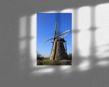 Windmühle in Kinderdijk von Yvonne Blokland