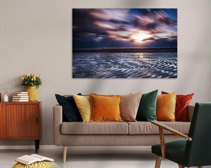Sfeerimpressie: Zonsondergang Zoutelande van Tonia Beumer