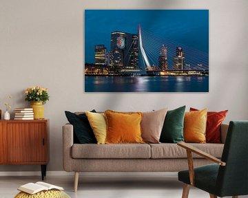 Feyenoord projectie op 'De Rotterdam'  van Midi010 Fotografie