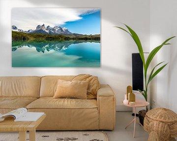 Der Cordillera Paine in Torres del Paine von Gerry van Roosmalen