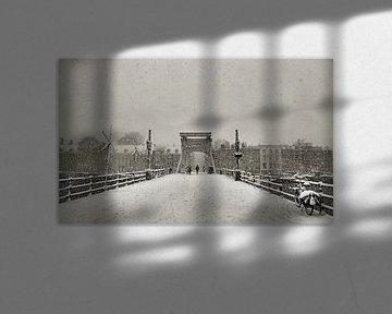 Magere brug in de Sneeuw II von Frank de Ridder