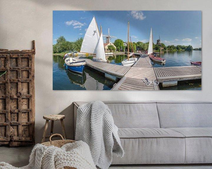 Sfeerimpressie: Molens De Lelie en De Ster aan de Kralingse Plas, Rotterdam, Zuid-Holland, Nederland van Rene van der Meer