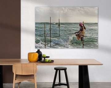Paalvisser in Sri Lanka van Richard van der Woude