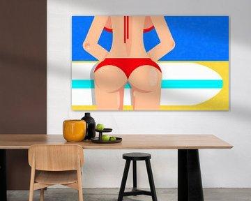 Op het strand van Digital Art design