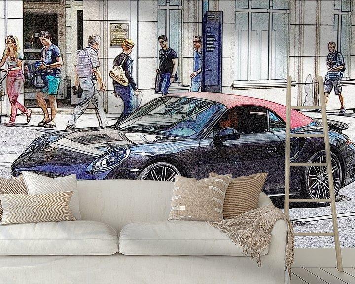 Beispiel fototapete: Porsche 911 Cabriolet von Pieter van Dijken