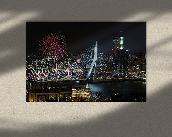 Sfeerimpressie: Nationaal Vuurwerk 2018 in Rotterdam van MS Fotografie | Marc van der Stelt